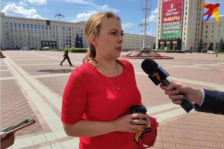 Кандидат в президенты Анна Канопацкая