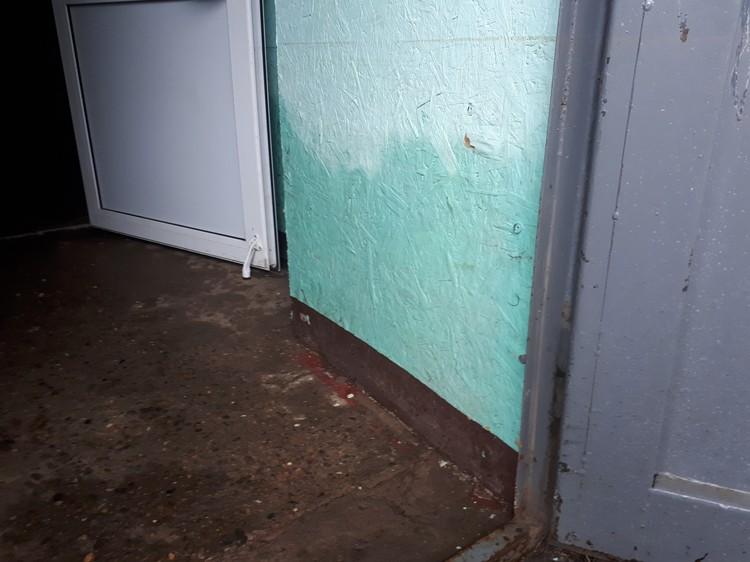 Стены в подъезде до сих пор остаются сырыми