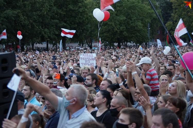 Столько людей на пикетах в Гомеле еще не собиралось