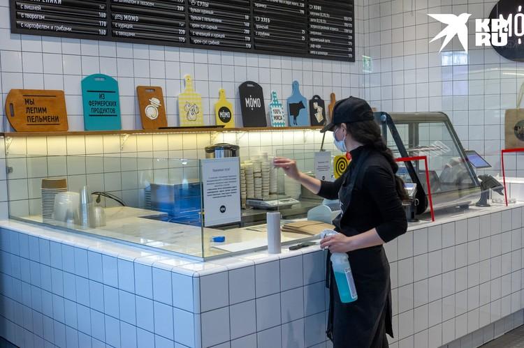 Открылись залы кафе и ресторанов