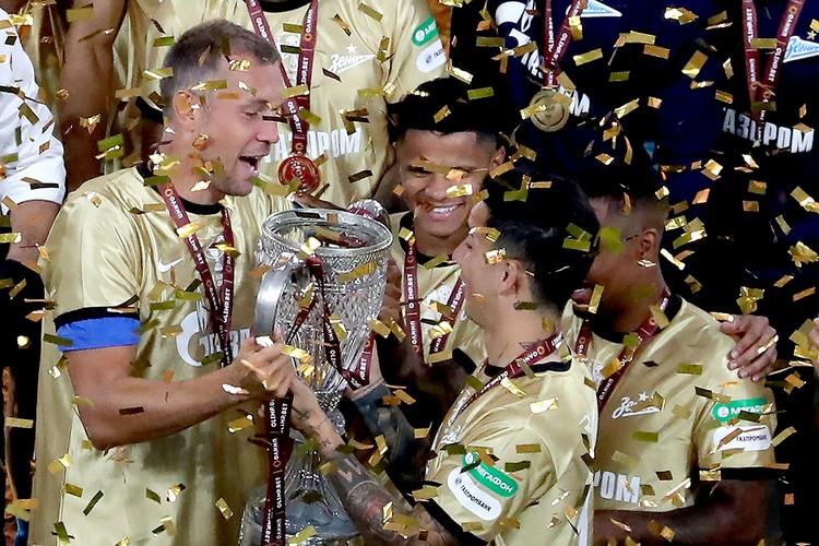 «Зенит» победил в Премьер-лиге с огромным отрывом. Он же взял кубок России. Фото: Донат Сорокин/ТАСС