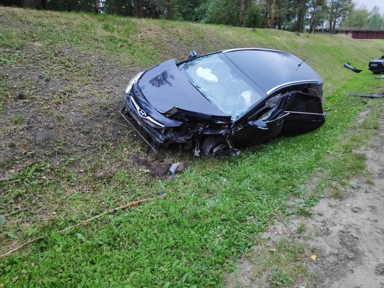 В аварии пострадали три человека. Фото Госавтоинспекции Орловской области