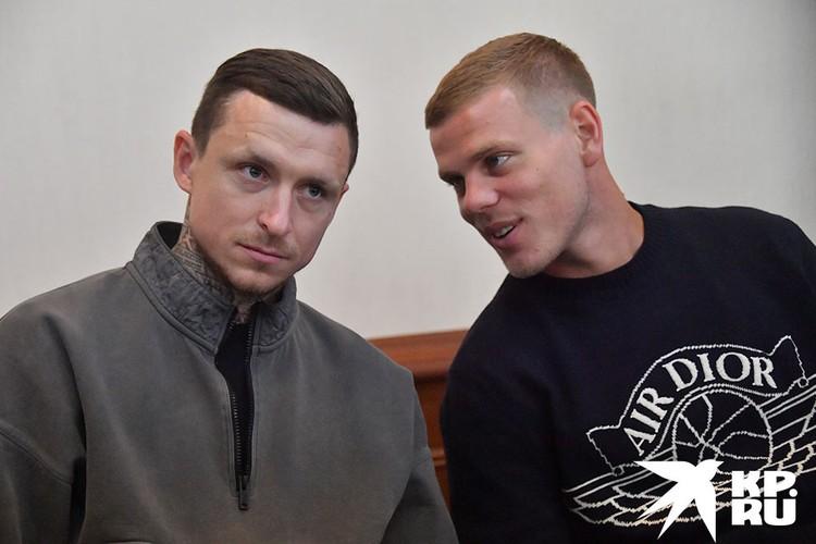 Павел Мамаев и Александр Кокорин в зале суда