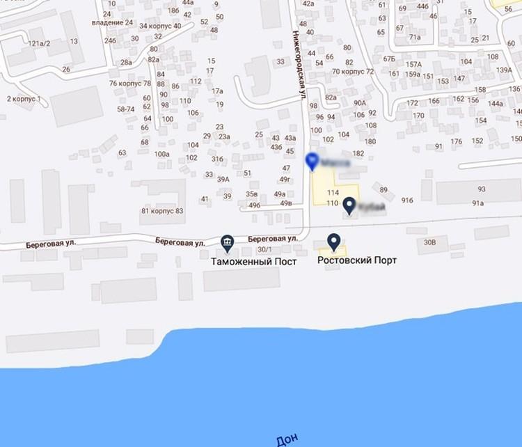 """Место, где будет стоять дом на карте. В этом районе в 2017 году был масштабный пожар. Фото: """"Яндекс-карты"""""""