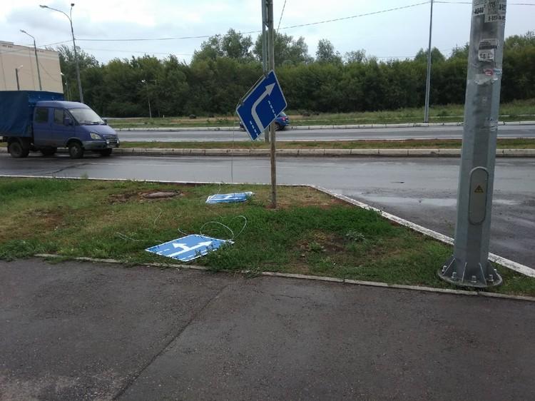 В Волгаре слетели дорожные знаки