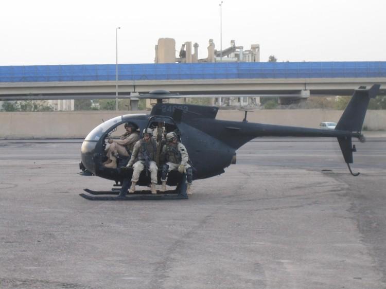 Вертолет ЧВК Academi с сотрудниками на борту.