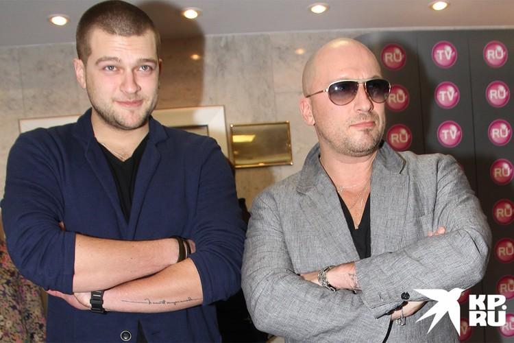 Дмитрий Нагиев с сыном Кириллом в 2012 г.