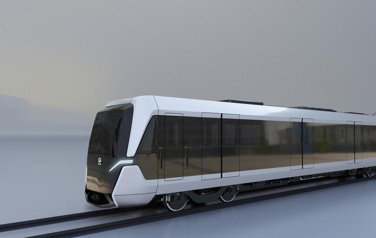 Дизайн-концепт поезда метро ТМХ в новой бренд-ДНК. Фото предоставлено пресс-службой ТМХ.