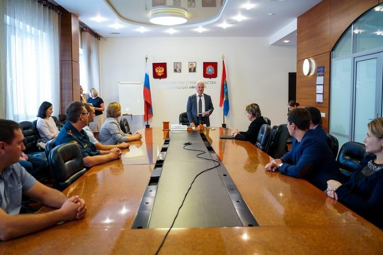 Участники получили награды в министерстве строительства региона