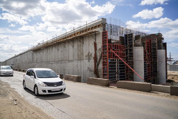 Строительство развязки на Пугачёвском тракте