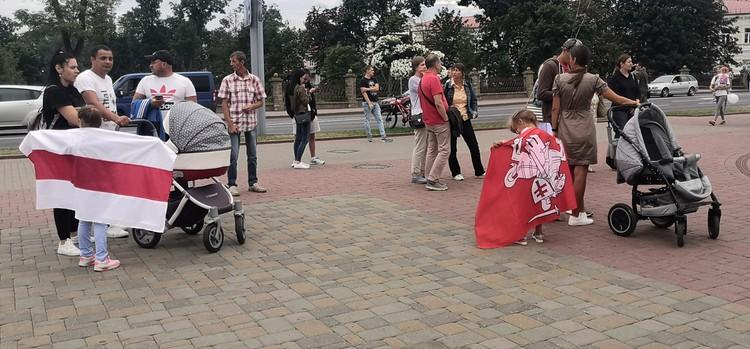 В Гродно на митинг не приходят семьями.