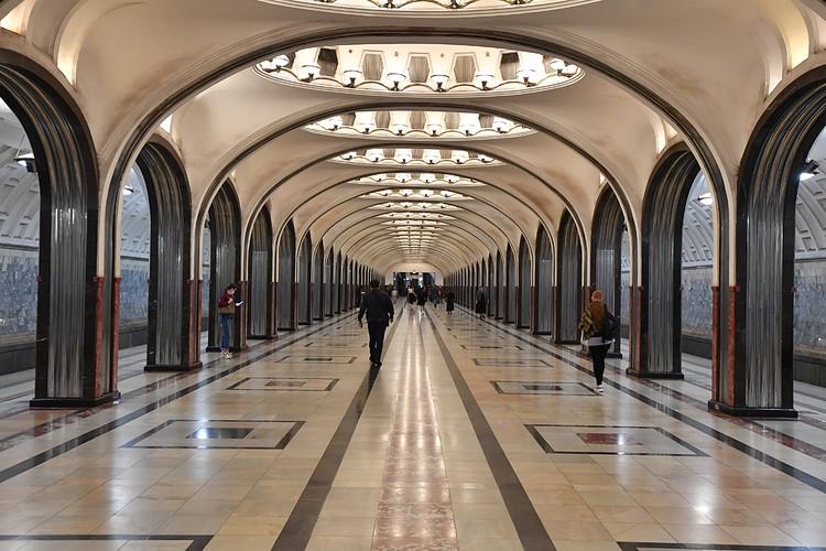 """Станция """"Маяковская"""" Замоскворецкой линии открыта в 1938 году"""