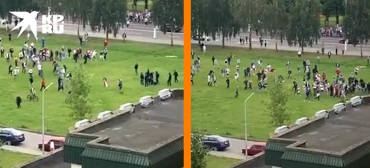 Минск, сцена прошедших выходных: сначала милиция избивает дубинками некоего лежащего участника протестов, затем толпа атакует их и отбивает своего силой.