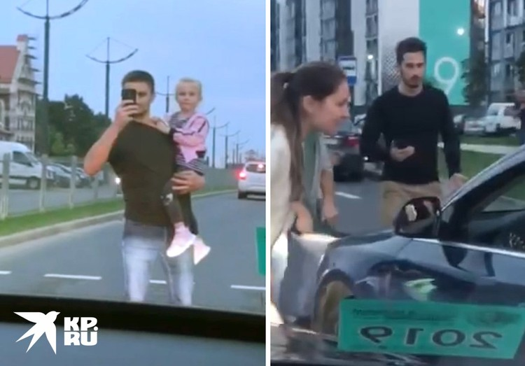 """Участникам автоколонны """"За Лукашенко"""" перекрыли путь."""