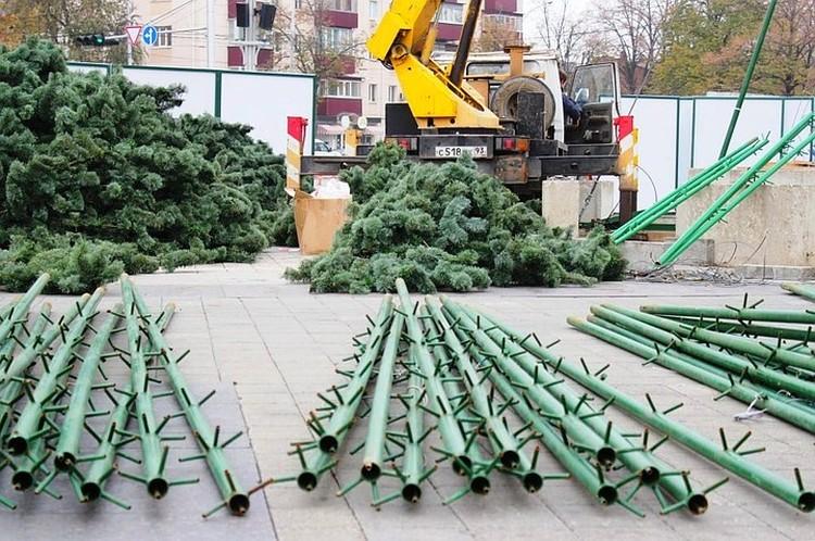 Каждый год ее собирают и разбирают рабочие. Фото: krd.ru