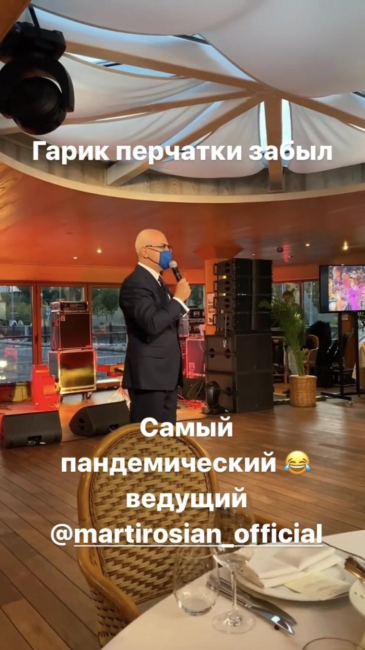 Гарик Мартиросян в маске — «самый пандемический ведущий» по версии Максима Галкина.