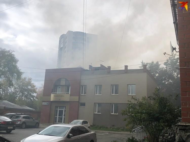 Сообщение о пожаре поступило в 12.47.