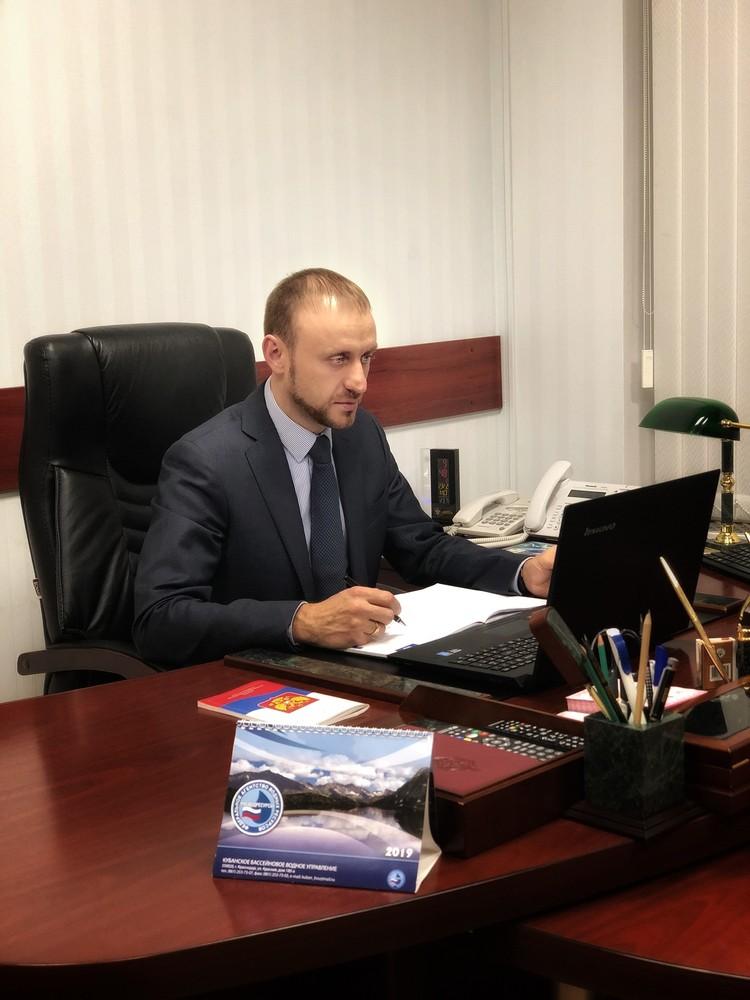 Руководитель Кубанского бассейнового водного управления Роман Авдеев.Фото: Влад Захаров.