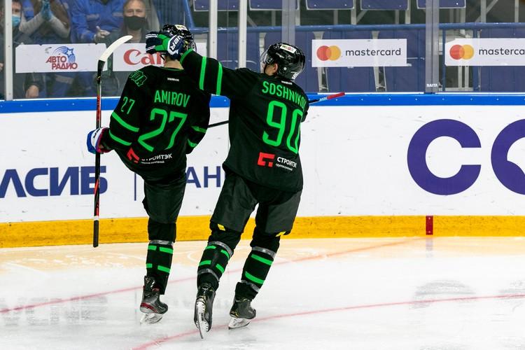 Родион Амиров наконец-то забил первую шайбу в КХЛ