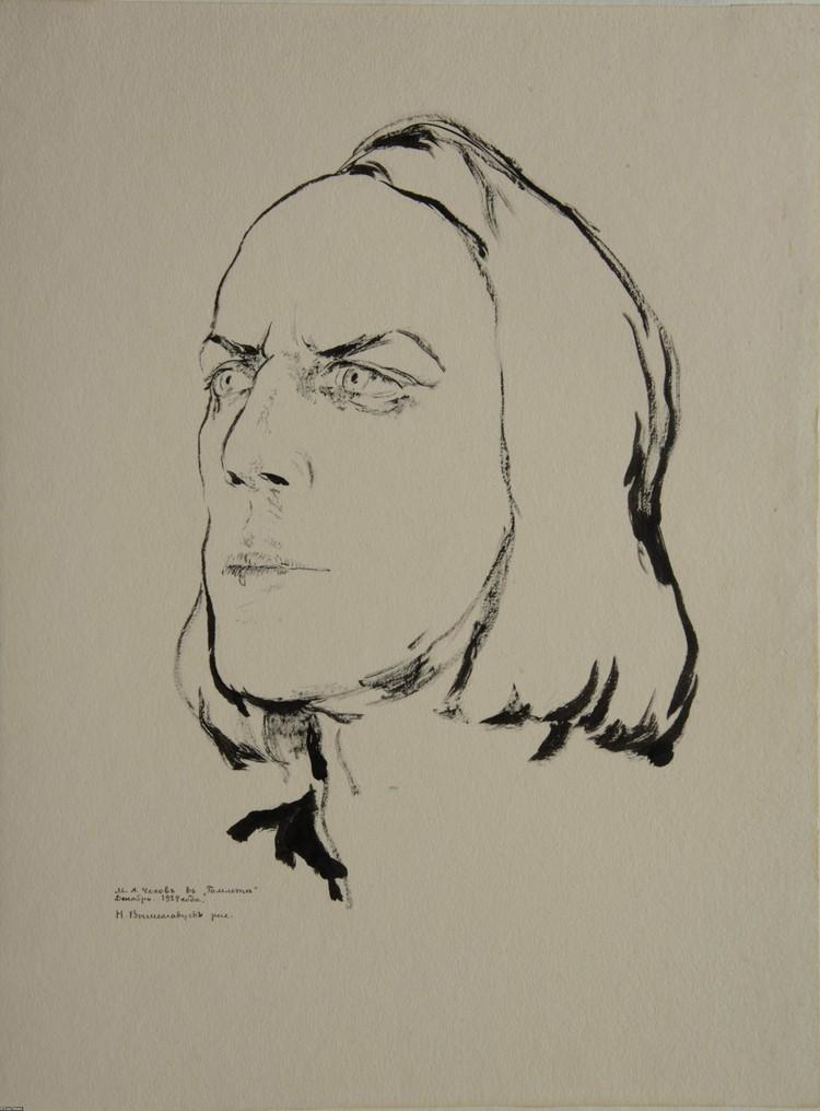 Михаил Чехов в образе Гамлета, рисунок 1924 года.