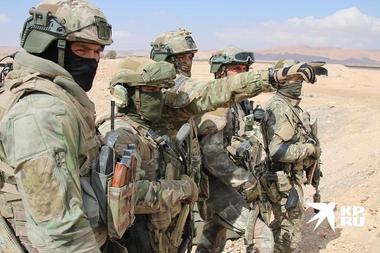 Спецназ ССО (Силы специальных операций ВС РФ) под Пальмирой.