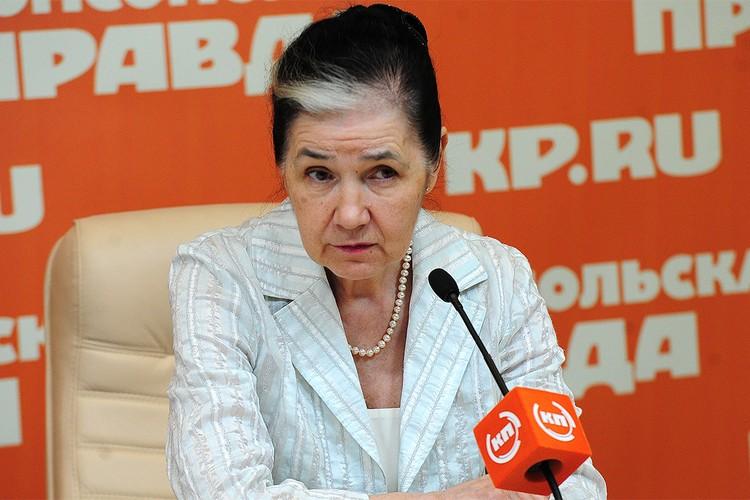 Председатель комитета Госдумы РФ по жилищной политике и жилищно-коммунальному хозяйству Галина Хованская.