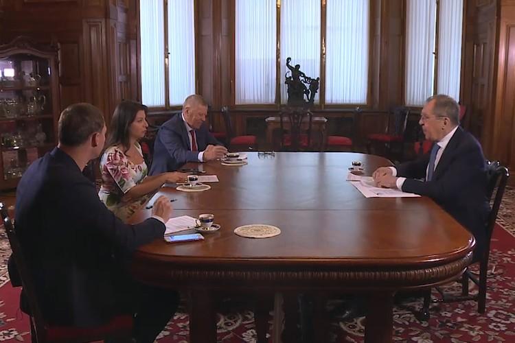 14 октября 2020 года министр иностранных дел РФ Сергей Лавров дал большое интервью