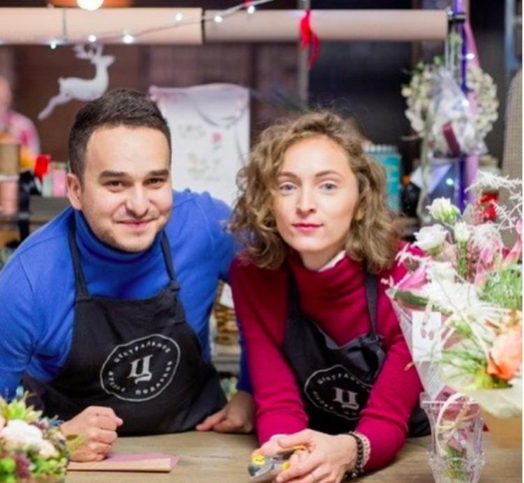 У Максима с женой Екатериной цветочный бизнес. После задержания Максима очередь в магазин не прекращается два дня. Фото: Инстаграм.
