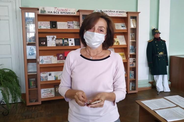 Заведующая отделом обслуживания библиотеки Марина Олейник
