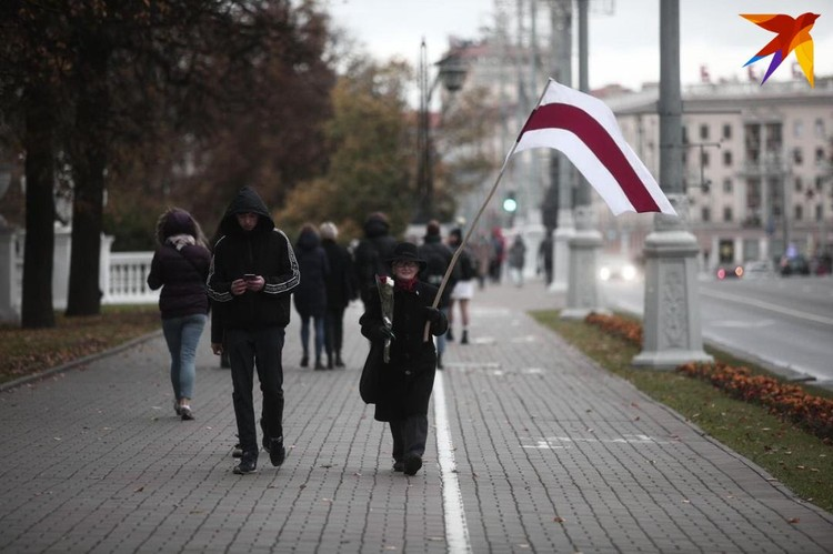На марш вышла и Нина Багинская