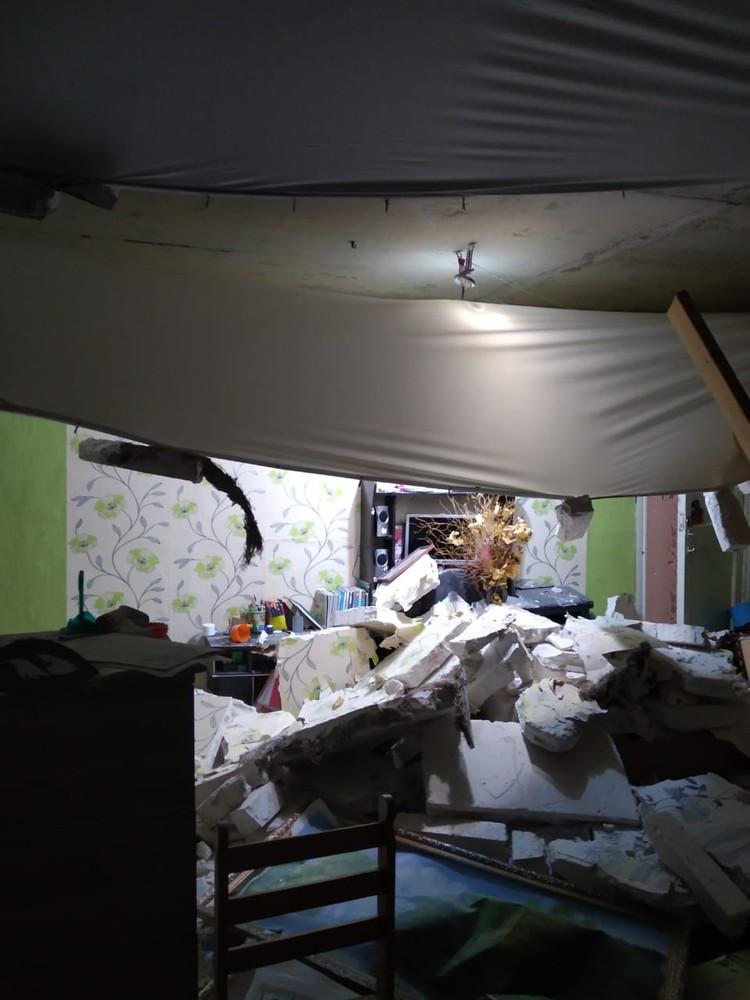 Разрушена перегородка между квартирами