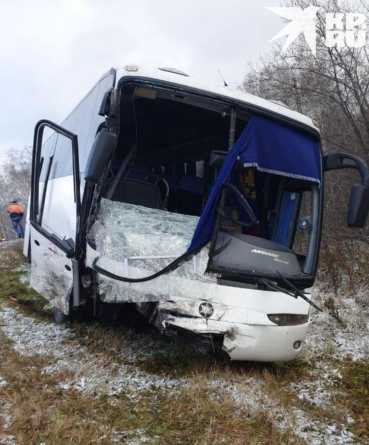 В пассажирском автобусе никто не пострадал.