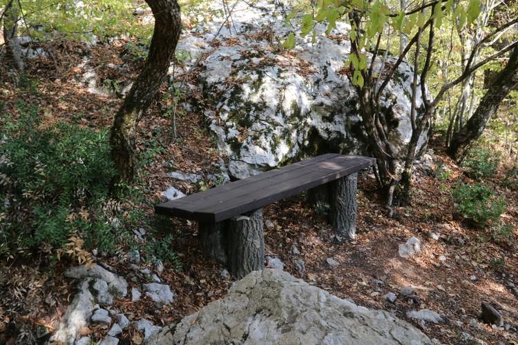 Скамейки вписались в ландшафт
