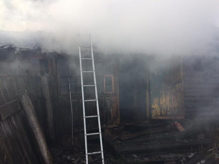 Во время пожара погибли двое мужчин