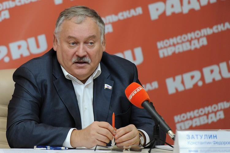 Первый зам. председателя комитета Госдумы по делам СНГ Константин Затулин.