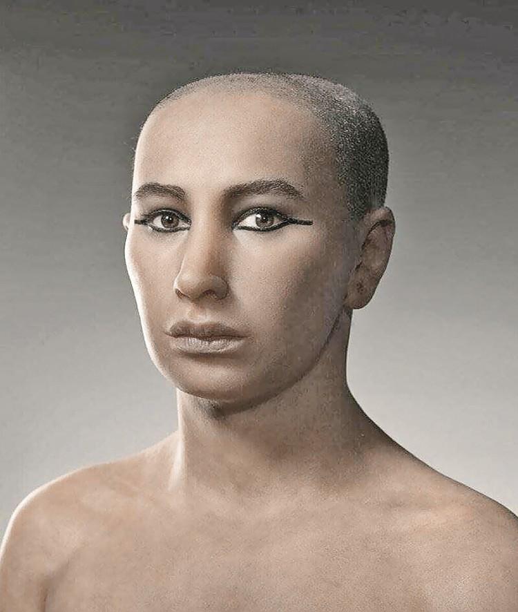 Восстановленный облик Тутанхамона.