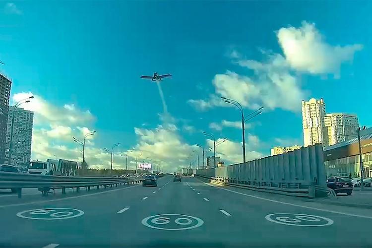 Падение самолета Колтового попало на видео.