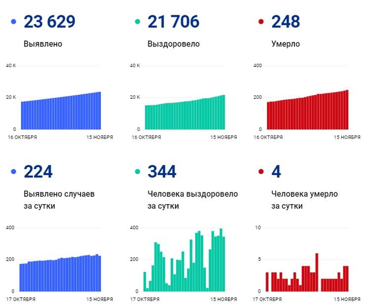 Статистика с сайта Стопкоронавирус.рф