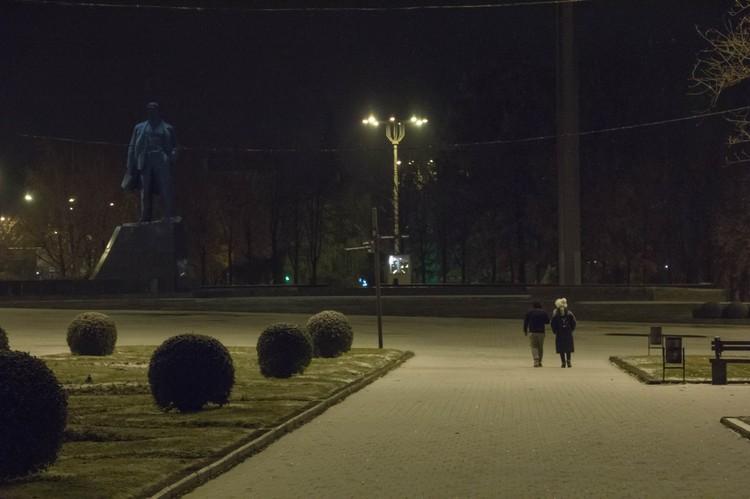 В Донецке выпал первый снег