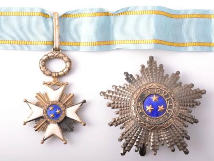 Орден Трех Звезд II степени.