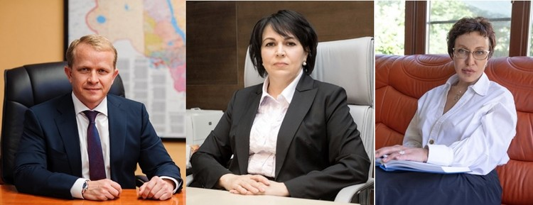 Сергей Пулинец, Алла Калинина и Лада Бутрина.