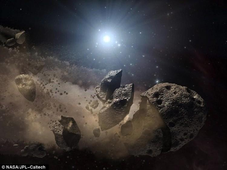 Разбить астероид на кусочки вполне реально.