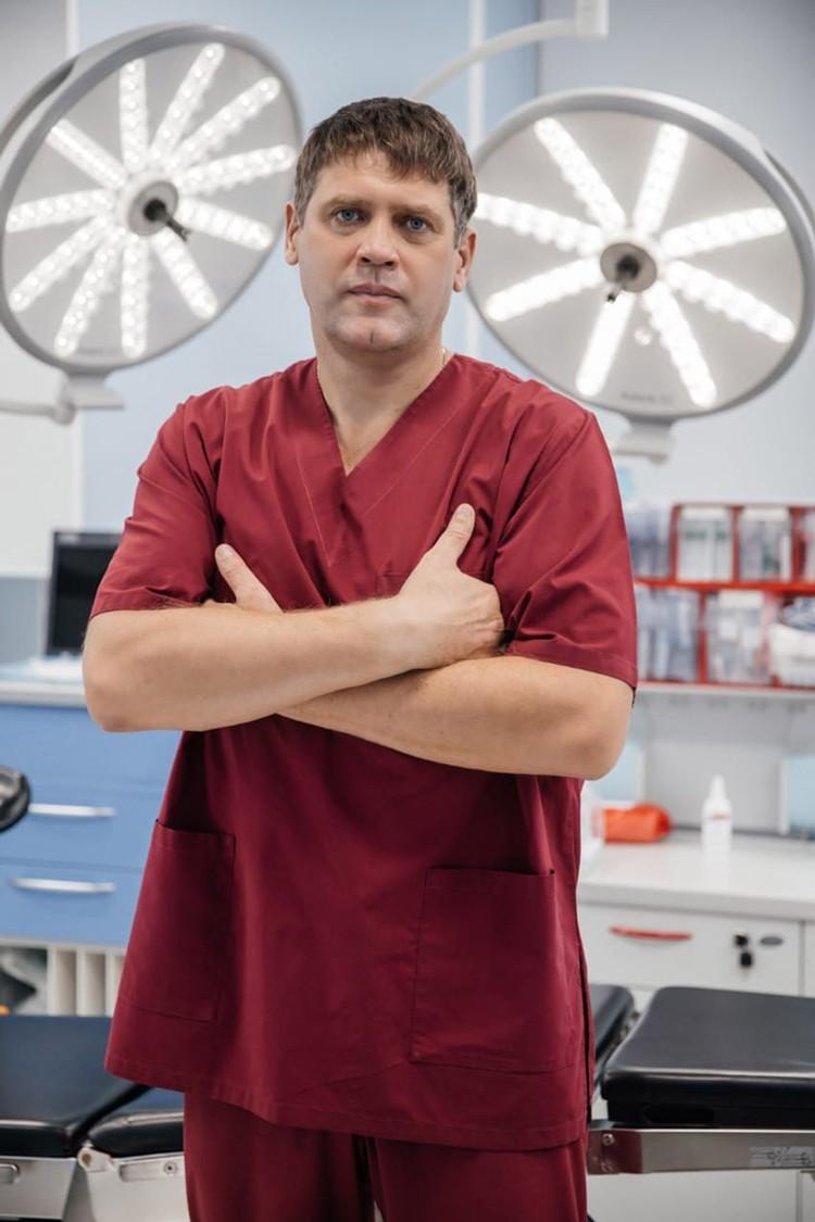 Заведующий хирургическим отделением клиники онкологии «Авиценна», врач-онколог высшей категории, кандидат медицинских наук Олег Зарубенков. Фото: Клинический госпиталь «АВИЦЕННА».
