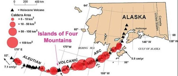 ОтАляски к Камчатке тянется цепь вулканов, которые вполне могут примкнуть к расположенному рядом супервулкану