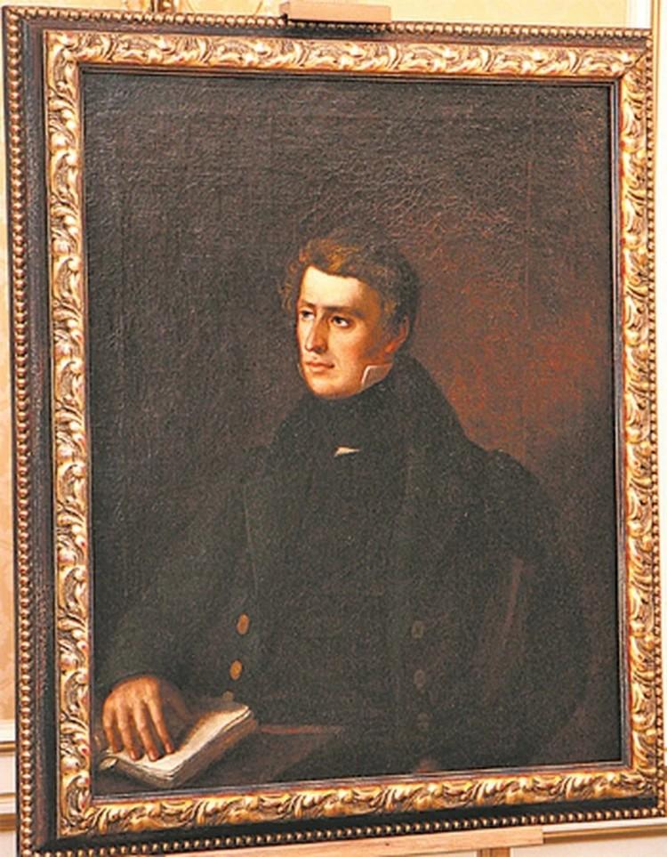 Портрет Томаша Зана - единственный подлинник работы Ваньковича который есть в Беларуси.