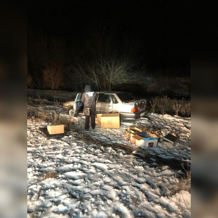 Машина была найдена на берегу реки Уршак