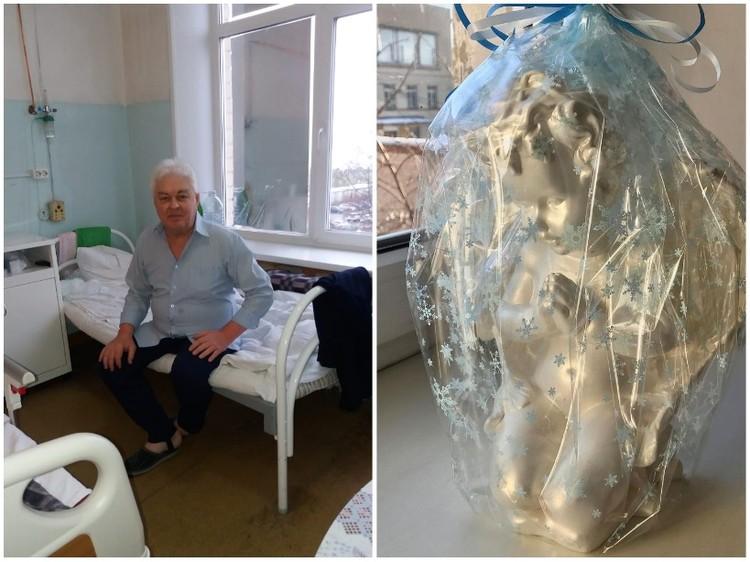 Сергей Андреев подарил врачам-спасителям фигурки ангелов. Фото: instagram.com/gkb9.chelyabinsk