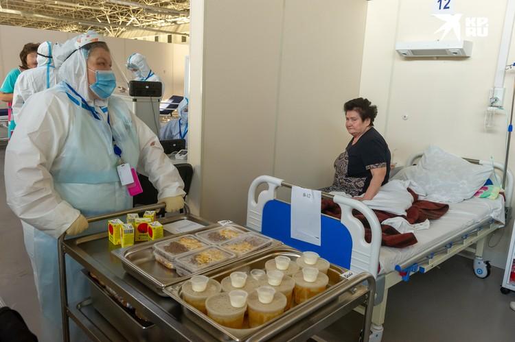 В госпитале Ленэкспо есть три аппарата для КТ и реанимация