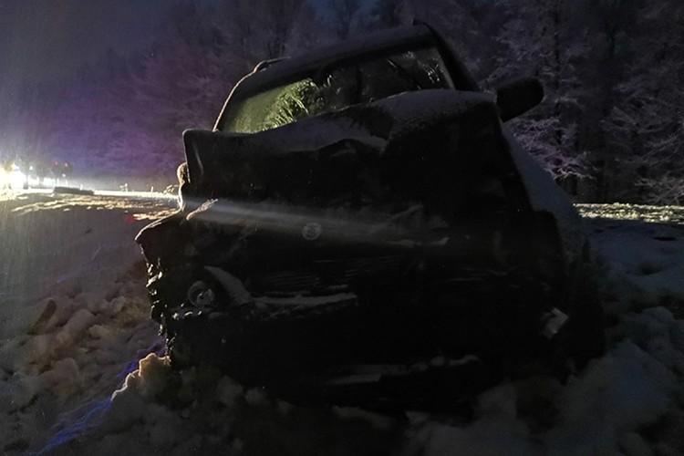 """34-летний водитель """"Ссанг Йонг"""" не пострадал."""