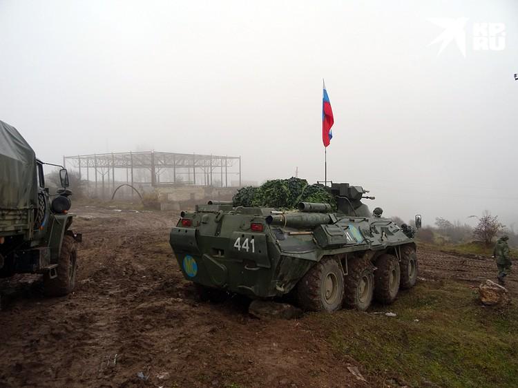 Миротворцы обеспечивают безопасность в «Лачинском коридоре»